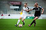 16.03.2019, Stadion Essen, Essen, GER, AFBL, SGS Essen vs TSG 1899 Hoffenheim, DFL REGULATIONS PROHIBIT ANY USE OF PHOTOGRAPHS AS IMAGE SEQUENCES AND/OR QUASI-VIDEO<br /> <br /> im Bild | picture shows:<br /> Jacqueline Klasen (SGS Essen #16) im Duell mit Janina Hechler (FFC Frankfurt #16), <br /> <br /> Foto &copy; nordphoto / Rauch