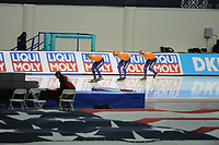 SPEEDSKATING: SALT LAKE CITY: 08-12-2017, Utah Olympic Oval, ISU World Cup, Team Pursuit Men, Team Nederland (Marcel Bosker, Bob de Vries, Simon Schouten), ©photo Martin de Jong