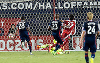 Frisco, TX. - September 13, 2016: FC Dallas take a 4-1 lead over the New England Revolution with Maximiliano Urruti adding a goal during the 2016 U.S. Open Cup Final at Toyota Stadium.