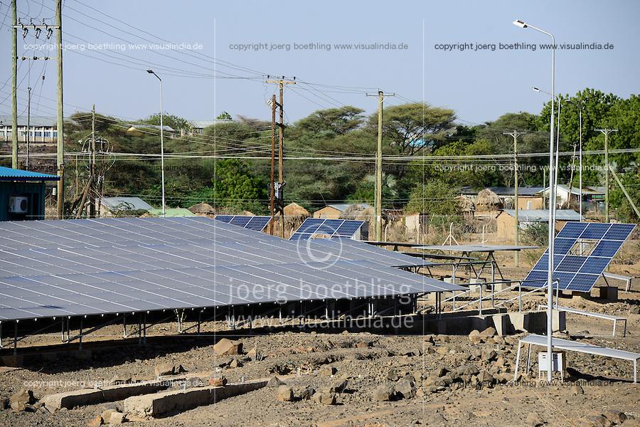 KENYA, Turkana, Lodwar, solar power station of KenGen the kenyan electricity supplier / KENIA Turkana, Lodwar, Solar Kraftwerk
