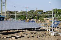 KENYA, Turkana, Lodwar, solar power station of KenGen the kenyan electricity supplier / KENIA Turkana, Lodwar, Solar Kraftwerk