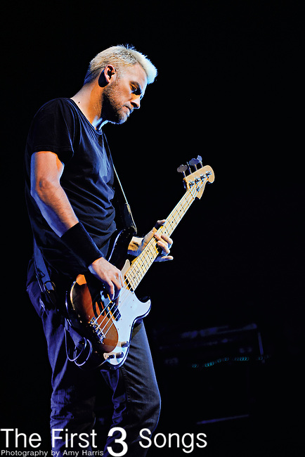 Corey Britz of Bush performs at PNC Pavilion at Riverbend Music Center in Cincinnati, Ohio on October 7, 2011.