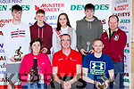 The Award winners at the St Marys Basketball Blitz on Saturday Lorraine Scanlon St Marys MVP, Mauricce Casey Chairman, Ian Mcloughlin Killorglin MVP. Back row: Kevin Donoghue St Marys, James Fernane St Brendans, Leanne Cahill-O'Connor Miss Basketball, Adam O'Donoghue  and Tommy O'Mahony