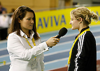 Photo: Richard Lane/Richard Lane Photography. Aviva World Trials & UK Championships. 13/02/2010. Zarah Al-Kudcy interviews Gemma Turtle.