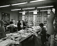 Fashion studios at Ennismore Gardens, Knightsbridge, early 1950s