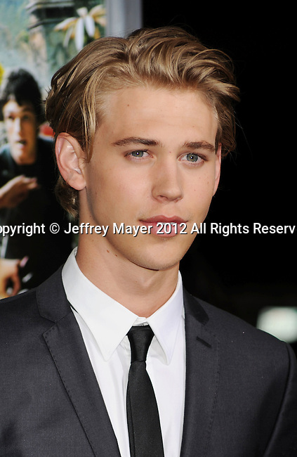 HOLLYWOOD, CA - FEBRUARY 02: Austin Butler attends 'Journey 2: The Mysterious Island' Los Angeles Premiere at Grauman's Chinese Theatre on February 2, 2012 in Hollywood, California.