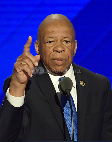 United States Representative Elijah Cummings (Democrat of Maryland) makes remarks at the 2016 Democratic National Convention at the Wells Fargo Center in Philadelphia, Pennsylvania on Monday, July 25, 2016.<br /> Credit: Ron Sachs / CNP/MediaPunch<br /> (RESTRICTION: NO New York or New Jersey Newspapers or newspapers within a 75 mile radius of New York City)
