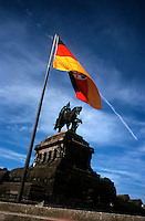 Kaiser Wilhelm memorial statue in Koblenz, Germany..
