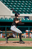 Pittsburgh Pirates Patrick Dorrian (67) follows through on a swing during a Florida Instructional League game against the Detroit Tigers on October 6, 2018 at Joker Marchant Stadium in Lakeland, Florida.  (Mike Janes/Four Seam Images)