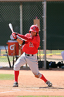 Darwin Perez #56 of the Los Angeles Angels plays in a minor league spring training game against the Colorado Rockies at the Angels minor league complex on March 18, 2011  in Tempe, Arizona. .Photo by:  Bill Mitchell/Four Seam Images.