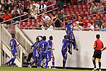 11 March 2008: Roberto Linares (CUB) (9) celebrates his first half goal with teammates and fans. The United States U-23 Men's National Team tied the Cuba U-23 Men's National Team 1-1 at Raymond James Stadium in Tampa, FL in a Group A game during the 2008 CONCACAF's Men's Olympic Qualifying Tournament.