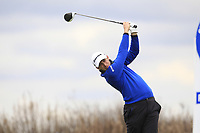 Lorenzo Gagli (ITA) on the 4th tee during Round 1 of the Open de Espana 2018 at Centro Nacional de Golf on Thursday 12th April 2018.<br /> Picture:  Thos Caffrey / www.golffile.ie<br /> <br /> All photo usage must carry mandatory copyright credit (&copy; Golffile | Thos Caffrey)
