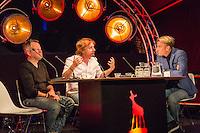 Utrecht, 27-9-2016, Nederlands Film Festival. Talkshow met host Art Rooijakkers in het postkantoor festivalhart. Aan tafel regisseurs Eddie Terstal en Erik Wünsch over Alberta. Photo: Nichon Glerum