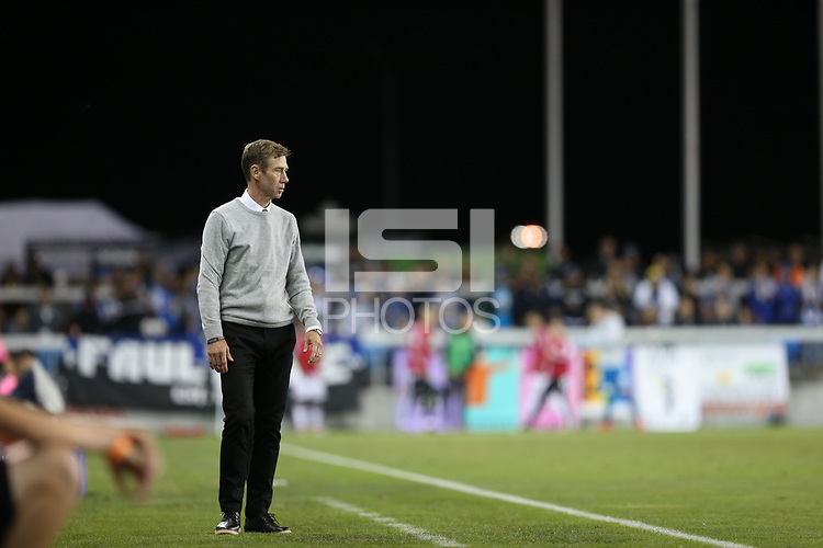 San Jose, CA - Saturday October 06, 2018: Steve Ralston during a Major League Soccer (MLS) match between the San Jose Earthquakes and the New York Red Bulls at Avaya Stadium.