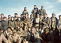 Iraq 2001.In Shinerwe, men and women peshmergas of PUK:2nd from left, 3rd rank, Amina Ahmed Mohamed.Irak 2001.A Shinerwe, hommes et femmes peshmergas de l'UPK: 2eme a Gauche, 3eme rang, Amina Ahmed Mohamed