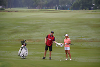 Danielle Kang (USA) dries her club before pitching in on 10 during round 1 of the U.S. Women's Open Championship, Shoal Creek Country Club, at Birmingham, Alabama, USA. 5/31/2018.<br /> Picture: Golffile   Ken Murray<br /> <br /> All photo usage must carry mandatory copyright credit (© Golffile   Ken Murray)
