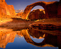 Rainbow Bridge Reflection, Rainbow Bridge National Monument, Utah    Lake Powell   Glen Canyon National Recreation Area