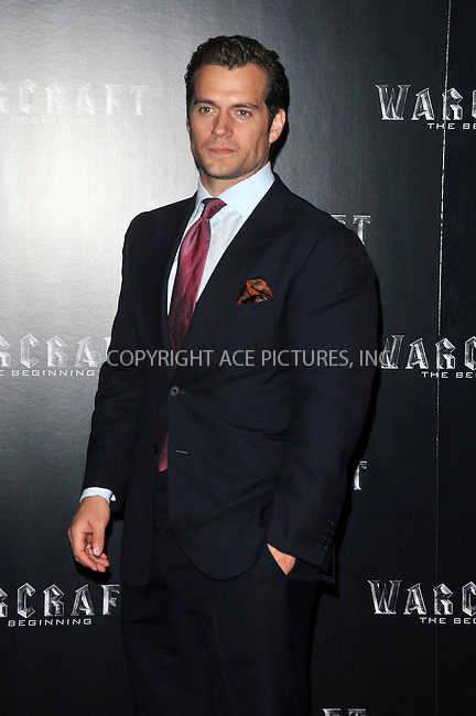 WWW.ACEPIXS.COM<br /> <br /> May 25 2016, London<br /> <br /> Henry Cavill arriving at a special screening of 'Warcraft: The Beginning' at BFI IMAX on May 25, 2016 in London, England<br /> <br /> By Line: Famous/ACE Pictures<br /> <br /> <br /> ACE Pictures, Inc.<br /> tel: 646 769 0430<br /> Email: info@acepixs.com<br /> www.acepixs.com