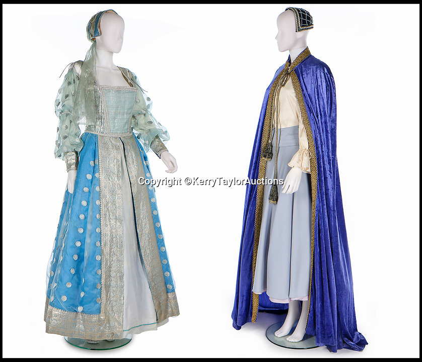 BNPS.co.uk (01202 558833)<br /> Pic:   KerryTaylorAuctions/BNPS<br /> <br /> In the same sale were two fancy dress outfit Sarah Ferguson wore for the much-derided version of It's a Royal Knockout - sold for £1,750.<br /> <br /> Three designer dresses worn by Princess Diana for her Royal duties have sold for over £260,000.<br /> <br /> The trio of outfits included a blue and white striped dress commissioned from the Emanuels and worn by Diana during her visit to the Gulf states with Prince Charles in 1986. That sold for £106,000 alone.<br /> <br /> A Catherine Walker printed peach silk polka dot coat dress the Princess of Wales was seen out in on numerous occasions in the late 1980s and early '90s fetched almost £100,00 at the sale in London.