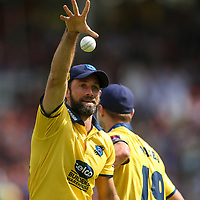 Birmingham Bears' Grant Elliott celebrates taking a catch to dismiss Glamorgan's Colin Ingram<br /> <br /> Photographer Andrew Kearns/CameraSport<br /> <br /> NatWest T20 Blast Semi-Final - Birmingham Bears v Glamorgan - Saturday 2nd September 2017 - Edgbaston, Birmingham<br /> <br /> World Copyright &copy; 2017 CameraSport. All rights reserved. 43 Linden Ave. Countesthorpe. Leicester. England. LE8 5PG - Tel: +44 (0) 116 277 4147 - admin@camerasport.com - www.camerasport.com