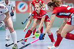 Mannheim, Germany, December 01: During the Bundesliga indoor women hockey match between Mannheimer HC and Nuernberger HTC on December 1, 2019 at Irma-Roechling-Halle in Mannheim, Germany. Final score 7-1. (Copyright Dirk Markgraf / 265-images.com) *** Jule Kosswig #23 of Mannheimer HC