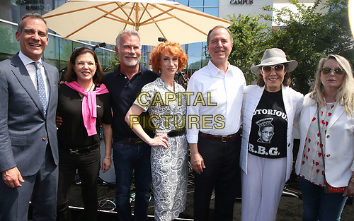 LOS ANGELES, CA -APRIL 7: Eric Garcetti, Anita May Rosenstein, David Bailey, Kathy Griffin, Adam Schiff, Lily Tomlin, Ariadne Getty, at Grand Opening Of The Los Angeles LGBT Center's Anita May Rosenstein Campus at Anita May Rosenstein Campus in Los Angeles, California on April 7, 2019.<br /> CAP/MPIFS<br /> &copy;MPIFS/Capital Pictures