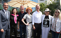 LOS ANGELES, CA -APRIL 7: Eric Garcetti, Anita May Rosenstein, David Bailey, Kathy Griffin, Adam Schiff, Lily Tomlin, Ariadne Getty, at Grand Opening Of The Los Angeles LGBT Center's Anita May Rosenstein Campus at Anita May Rosenstein Campus in Los Angeles, California on April 7, 2019.<br /> CAP/MPIFS<br /> ©MPIFS/Capital Pictures