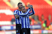 Barry Bannan of Sheffield Wednesday thanks the fans with his man of the match trophy during Charlton Athletic vs Sheffield Wednesday, Sky Bet EFL Championship Football at The Valley on 30th November 2019