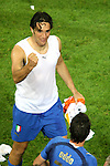 04 July 2006: Luca Toni (ITA) pumps his fist after the Italy victory. Italy defeated Germany 2-0 in overtime at Signal Iduna Park, better known as Westfalenstadion, in Dortmund, Germany in match 61, the first semifinal game, in the 2006 FIFA World Cup.