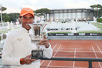 Rafael Nadal of Spain poses with the trophy at the end of the final match played against Novak Djokovic of Serbia. Rafael Nadal won 6-0, 4-6, 6-1 <br /> Roma 19/05/2019 Foro Italico  <br /> Internazionali BNL D'Italia Italian Open <br /> Photo Giampiero Sposito / Insidefoto