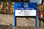 Sign for St Mary's Girls School, Calne Wiltshire, England