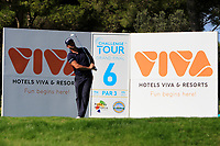 Ricardo Santos (POR) on the 6th tee during Round 1 of the Challenge Tour Grand Final 2019 at Club de Golf Alcanada, Port d'Alcúdia, Mallorca, Spain on Thursday 7th November 2019.<br /> Picture:  Thos Caffrey / Golffile<br /> <br /> All photo usage must carry mandatory copyright credit (© Golffile | Thos Caffrey)