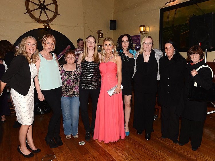 Hannah Kerrigan celebrating her 21st birthday in the Mariner with mam Emma and all her aunts. Photo:Colin Bell/pressphotos.ie