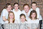 Asdee NS who sang in the choir at the Kerry Peace Proms in the INEC on Sunday front row l-r: Katie Doyle, Miriam Hanlon, Maeve Scanlon. Back row: Debbie O'Sullivan, Audrey Lacey, Sarah Jane Carmody and Ciana Lynch....
