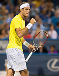 Juan Martin del Potro (ARG) defeats Kevin Anderson (RSA) 7-6(0), 6-3 in the Quarterfinals of the Citi Open in Washington, DC on August 2, 2013.