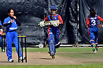 Kajal Shrestha of Nepal in action during the ICC 2016 Women's World Cup Asia Qualifier match between Thailand and Nepal on 10 October 2016 at the Tin Kwong Road Cricket Recreation Ground in Hong Kong, China. Photo by Marcio Machado / Power Sport Images