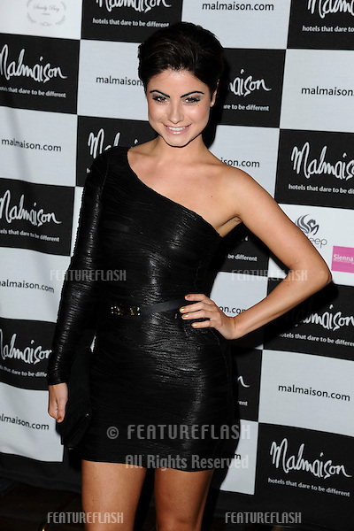 Saphire Elia arrives for the Malmaison Hotel Liverpool re-opening party...23/09/2011  Picture by Steve Vas/Featureflash