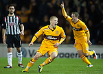PICTURE BY - ROB CASEY .DESCRIPTION - MOTHERWELL v DUNFERMLINE.PIC SHOWS - HENRIK OJAMAA CELEBRATES SCORING A BELTER OF A GOAL FOR MOTHERWELL….. 1-0.