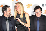 Mark Ruffalo, Gwyneth Paltrow & Josh Gad attending the The 2012 Toronto International Film Festival.Red Carpet Arrivals for 'Thanks For Sharing' at the Ryerson Theatre in Toronto on 9/8/2012