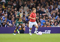 July 31, 2012..Japan's Aya Miyama (8) and South Africa's Portia Modise (12) in action during Football match between JPN and RSA at the Millennium Stadium on day four of 2012 Olympic Games in Cardiff, United Kingdom...