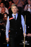 Neil Robertson enters the arena before the Dafabet Masters Quarter Final 2 match between Judd Trump and Neil Robertson at Alexandra Palace, London, England on 15 January 2016. Photo by Liam Smith / PRiME Media Images.