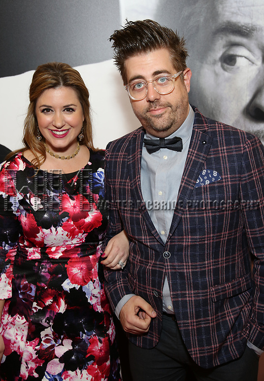 Eric Petersen and guest attends the Broadway Opening Night Performance of 'Present Laughter' at St. James Theatreon April 5, 2017 in New York City