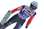 Simon Ammann competes during the FIS Ski Jumping World Cup as part of the 4 Hills Tournament in Innsbruck, on January 4, 2015.
