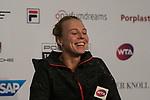 27.04.2018, Porsche-Arena, Stuttgart, GER, Porsche Tennis Grand Prix 2018, Viertelfinale, Pressekonferenz mit Anett Kontaveit (EST)<br /> <br /> Foto © nordphoto / Hafner