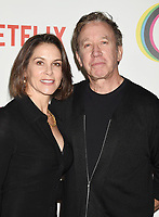 WEST HOLLYWOOD, CA - FEBRUARY 07: Jane Hajduk (L) and Tim Allen attend the premiere of Netflix's 'Queer Eye' Season 1 at Pacific Design Center on February 7, 2018 in West Hollywood, California.<br /> CAP/ROT/TM<br /> &copy;TM/ROT/Capital Pictures