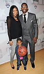 """Chris Paul with his wife Jada and son Emmanuel at the USA Basketball Presents """"Power Forward"""" event held at LA Center Studios, Sound Stage 6 Los Angeles, CA. April 22, 2012"""