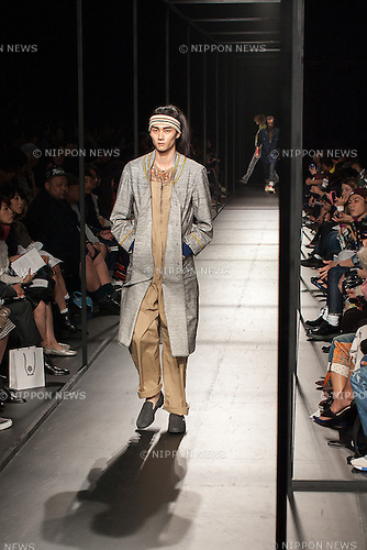 October 18th, 2013, Tokyo, Japan: Mercedes Benz Fashion Week Tokyo 2014 S/S Fashion Runway Show of Facetasm Designer: Hiromichi Ochiai. (Photo by Michael Steinebach/AFLO)