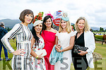 Maria Clifford, Teresa Walker,Sheila O'Mahony, Martha Farrell and Grainne Stack at Dawn Milk Ladies Day at Killarney Races on Thursday