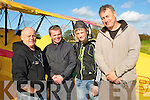SOLO: Darragh Murphy who took ihis first flight Solo wh attended the Air Show in Ardfert on Sunday with family and fellow piolets, L-r: Martin Murphy, David Bruton Darragh Murphy and Jimmy Quinn (organiser). ........