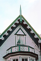 Ferndale CA: Gothic Revival House--detail. Photo '83.